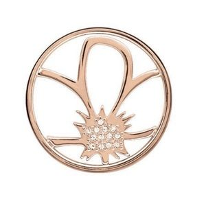 Origami Owl 💛 LARGE ROSE GOLD FLOWER WINDOW PLATE